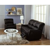 Cricket 2 Piece Leather Reclining Living Room Set