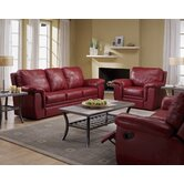 Brunswick 3 Piece Leather Reclining Living Room Set