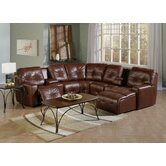 Mystique Leather Reclining Sectional