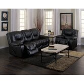 Santino 2 Piece Leather Reclining Living Room Set