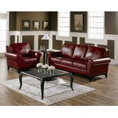 Lorian 2 Piece Leather Living Room Set
