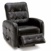 2 Motor Gisele Leather Chaise  Recliner