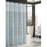 Bedminister Scroll Shower Curtain in Surf Spray