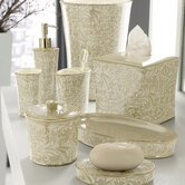 Bedminister Scroll Bath Accessory Collection in Cr&egrave;me Brulee