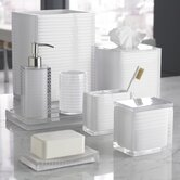 Mar-A-Lago Stripe Bath Accessory Collection in White