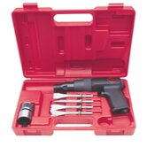 Air Hammer Kit, Shock Reduced Tool w/ Chisels
