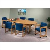 "Contemporary Series 120"" Oval Conference Table (Trestle Base)"