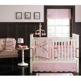 Pink Blossom 4 Piece Crib Bedding Set
