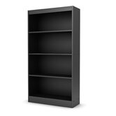 Axess Four Shelf Bookcase in Black