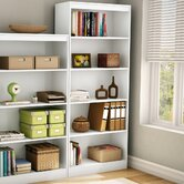 Axess Five Shelf Bookcase in Pure White