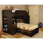 Logik Twin over Twin L-Shaped Bunk Bed with Desk
