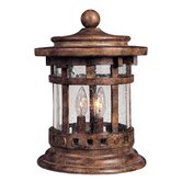Santa Barbara DC Outdoor Deck Lantern in Sienna