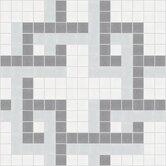 Urban Essentials Dimensional Lattice Mosaic Pattern Tile in Calm Grey