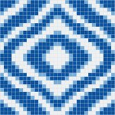 "Urban Essentials 24"" x 24"" Groovy Mosaic Pattern Tile in Lakefront Blue"