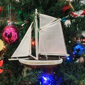Handcrafted Model Ships Ornaments, Tree-Toppers, A