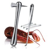 Kitchen Gourmet 5 Piece Hammer and Seafood Forks