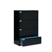 36&quot; W Four-Drawer Lateral File