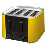 Daytona 4 Slice Toaster in Yellow