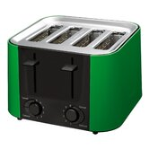 Daytona 4 Slice Toaster in Green