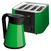 Daytona Kettle and 4 Slice Toaster Set in Green