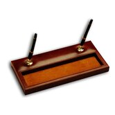 1000 Series Classic Leather Double Pen Stand in Mocha