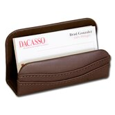 1000 Series Classic Leather Business Card Holder in Chocolate Brown