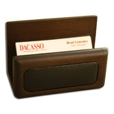 8000 Series Walnut and Leather Business Card Holder