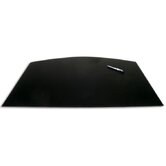 1000 Series Classic Leather 34 x 24 Arched Desk Mat in Black