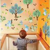 Nature Forest Friends Wall Decal 24 Piece Set