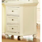 8891 Series Three Drawer Cabinet in White