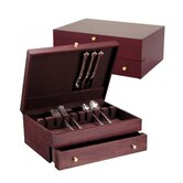 Promotional Mahogany Silverware Chest with Brown Lining