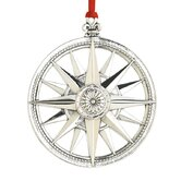 Compass Rose Star Sterling Ornament