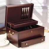 Charleston Mahogany Silverware Chest with Brown Lining