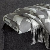 Tate Reversible Throw in Charcoal / White