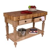 American Heritage Rustica Kitchen Island with Butcher Block Top