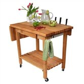 BoosBlock Deluxe Kitchen Cart with Butcher Block Top
