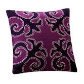 "Sumatra 18"" x 18"" Square Pillow in Deep Purple"