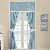 Coastline Tailored Valance in Aqua