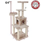 64&quot; Casita Fur Cat Tree