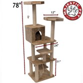"78"" Casita Fur Cat Tree"