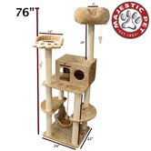 76&quot; Casita Fur Cat Tree
