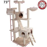 73&quot; Casita Fur Cat Tree
