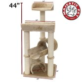 "44"" Casita Fur Cat Tree"
