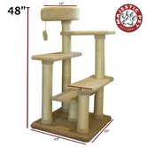 "48"" Kitty Jungle Gym Cat Tree"