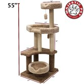 55&quot; Kitty Jungle Gym Cat Tree