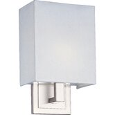 Edinburgh II  Wall Sconce with White Glass in Satin Nickel