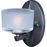 Vortex One Light Wall Sconce with Frost White Shade
