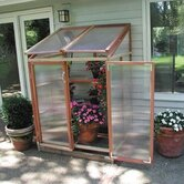 Patio Gardenhouse Polycarbonate Lean-To Greenhouse