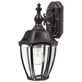 "Roseville 15.25"" H Outdoor Wall Lantern in Antique Bronze"