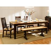 Country Hickory 6 Piece Dining Set